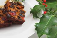 Christmas cake slices