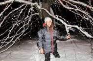 Princess Ingrid Alexandra of Norway pictured in the snow in 2018.