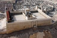 Model of second temple of Jerusalem.