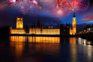 London is famous for its New Year's Day firework display.