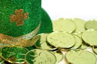 St. Patrick's Day Hat and Lucky Coins