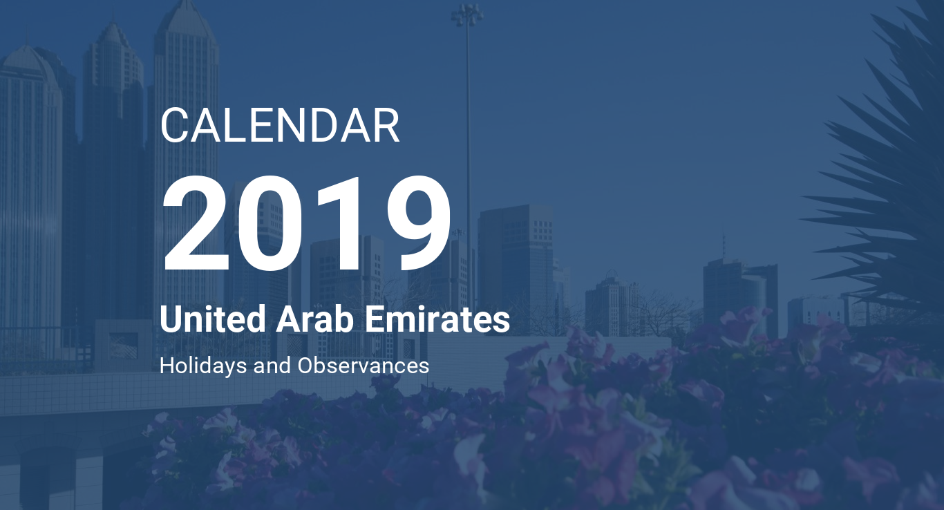 year 2019 calendar united arab emirates