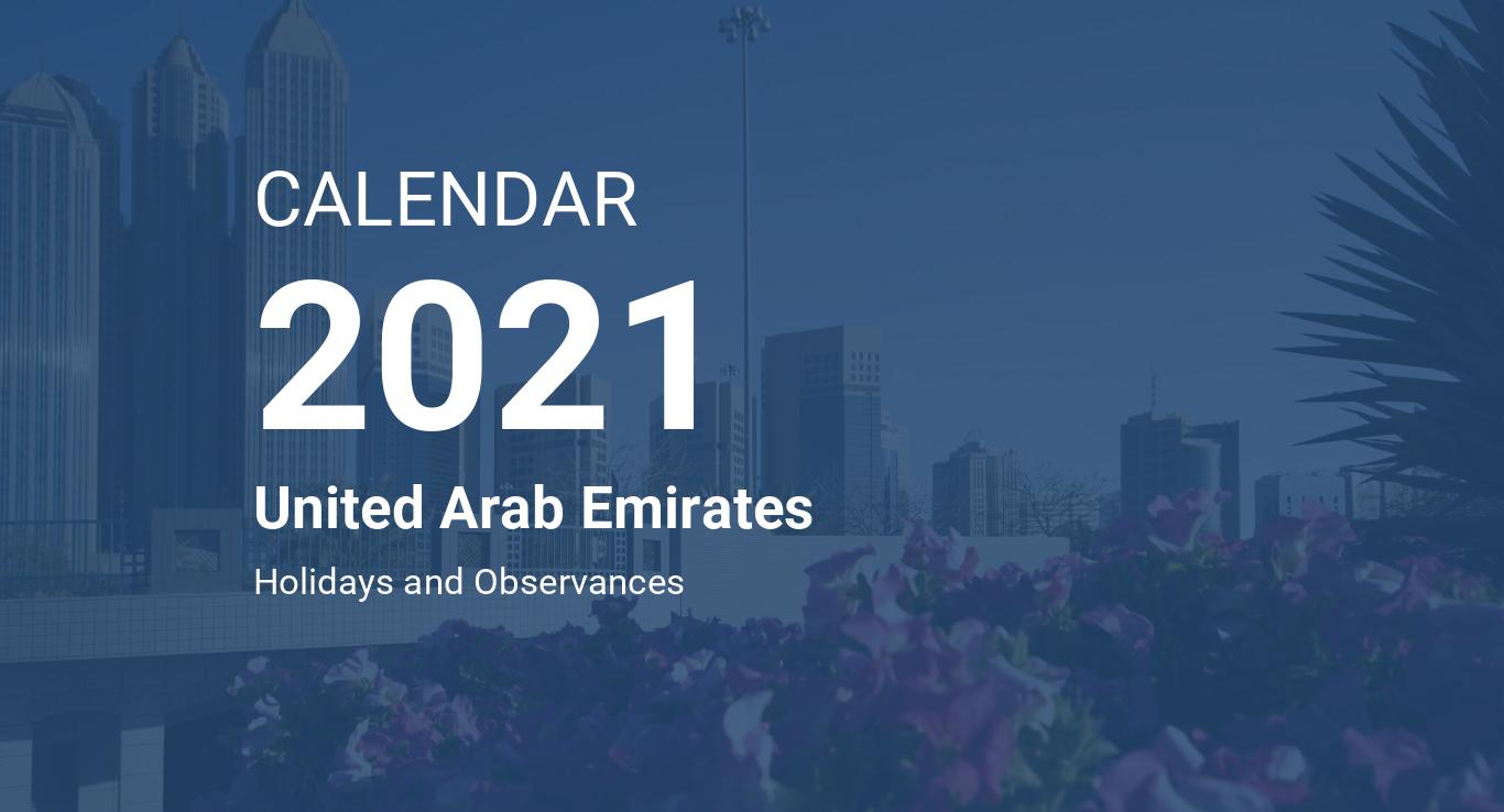 Year 2021 Calendar – United Arab Emirates