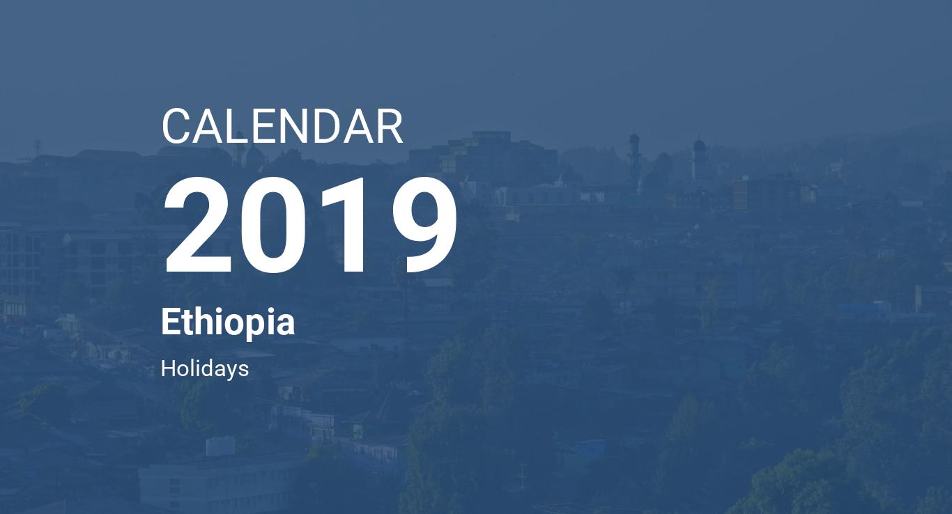 Ethiopian Calendar 2020 In Amharic Year 2019 Calendar – Ethiopia