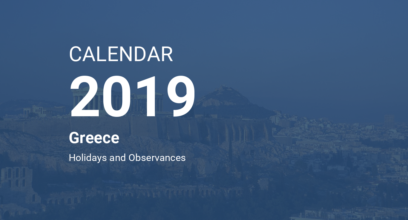 year 2019 calendar greece