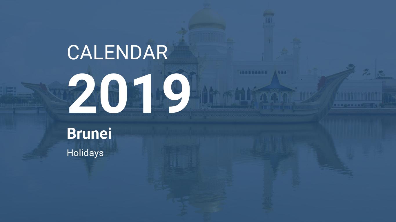 Year 2019 Calendar Brunei