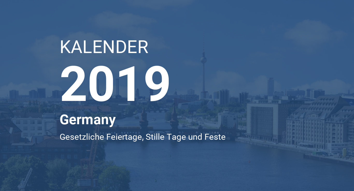 year 2019 calendar germany