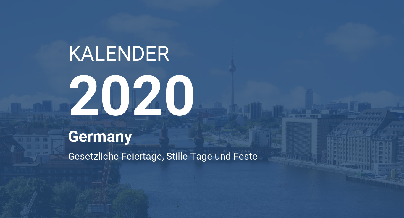 Calendario Tedesco 2020.Year 2020 Calendar Germany