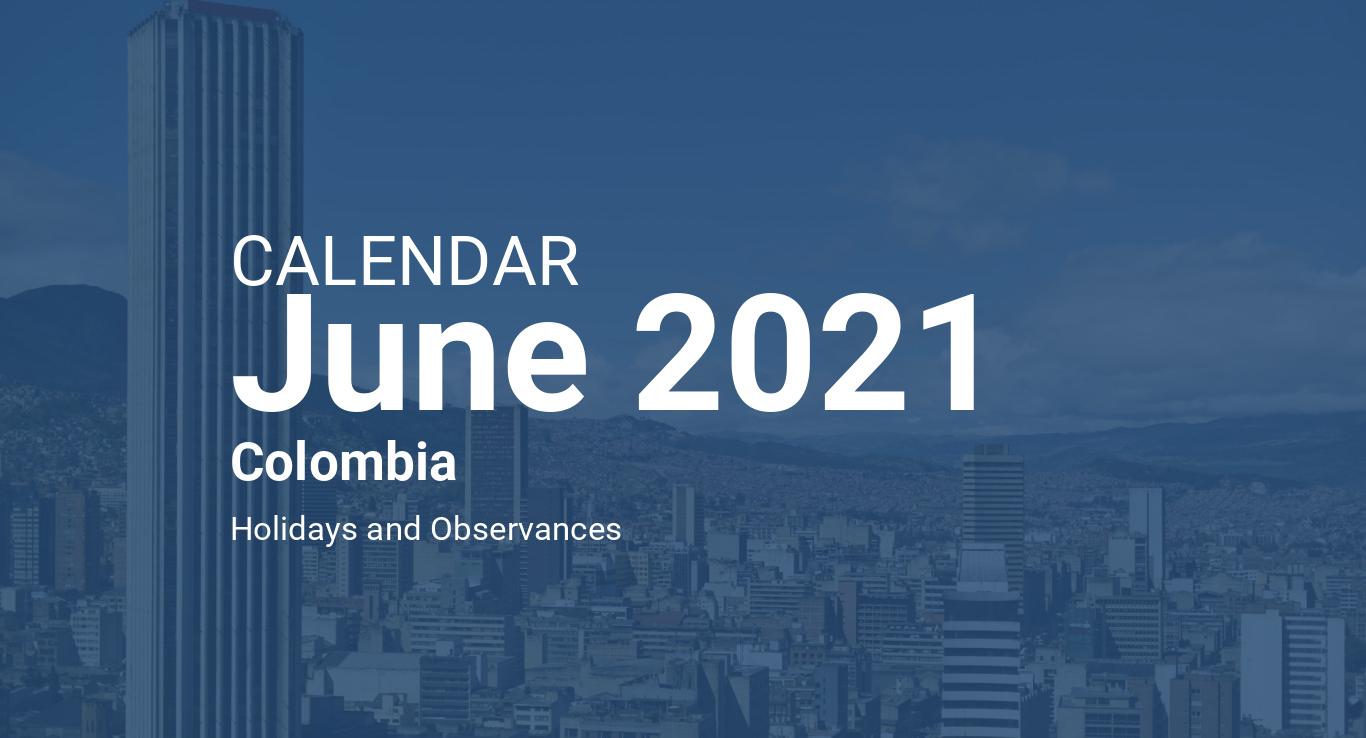 June 2021 Calendar - Colombia