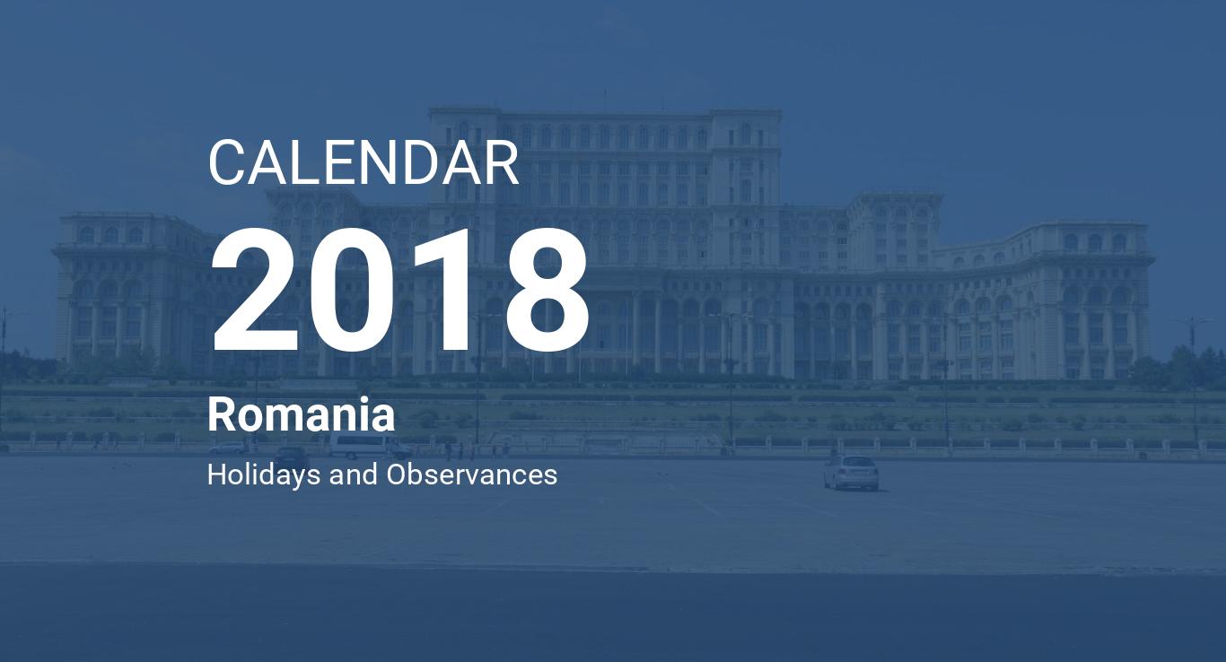 year 2018 calendar romania