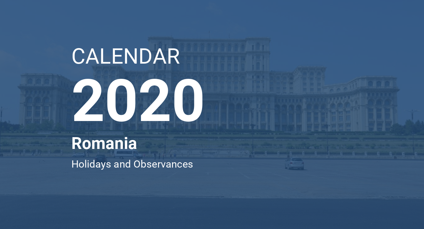Costantin Calendario 2020.Year 2020 Calendar Romania