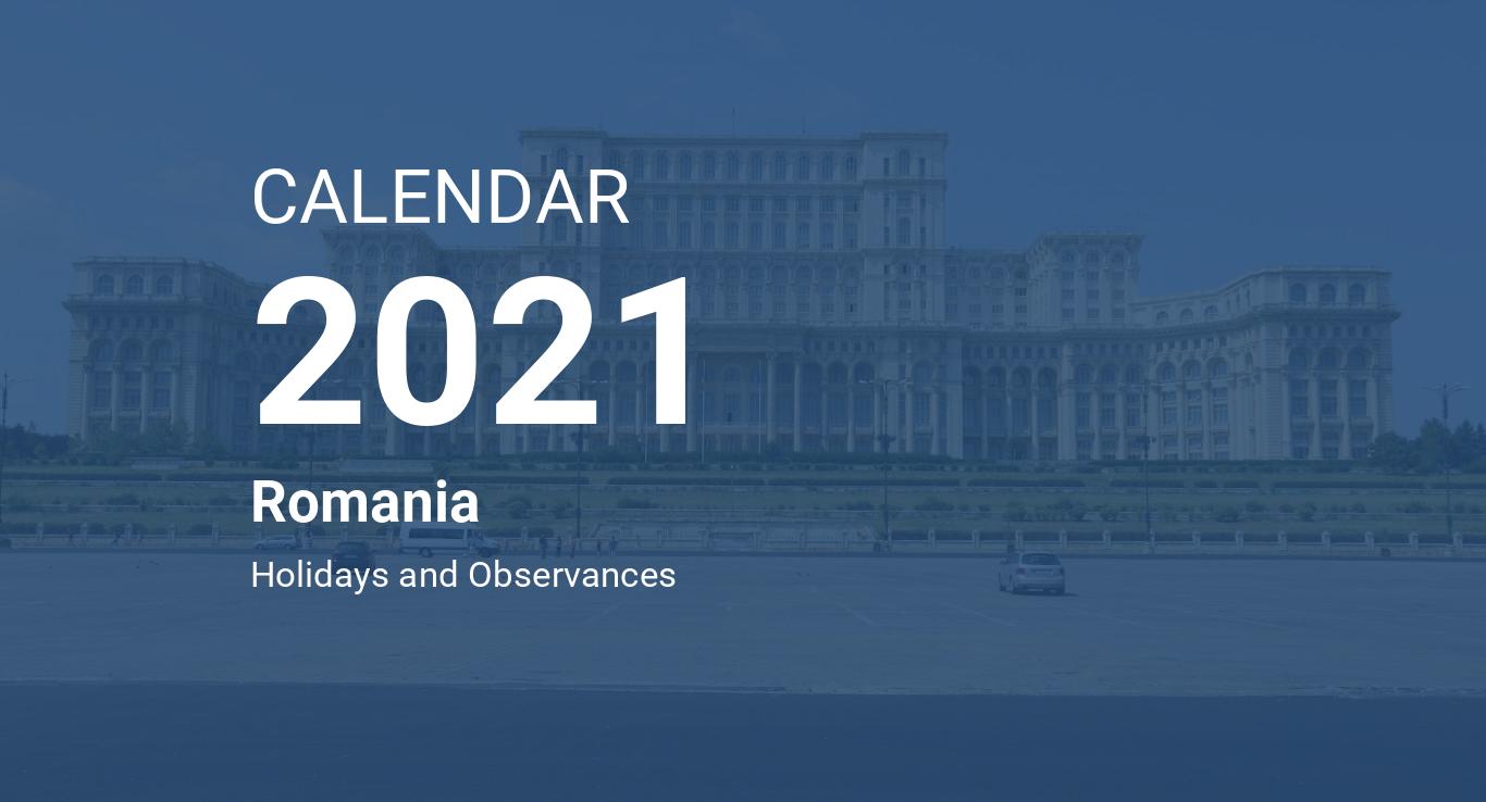 Year 2021 Calendar Romania