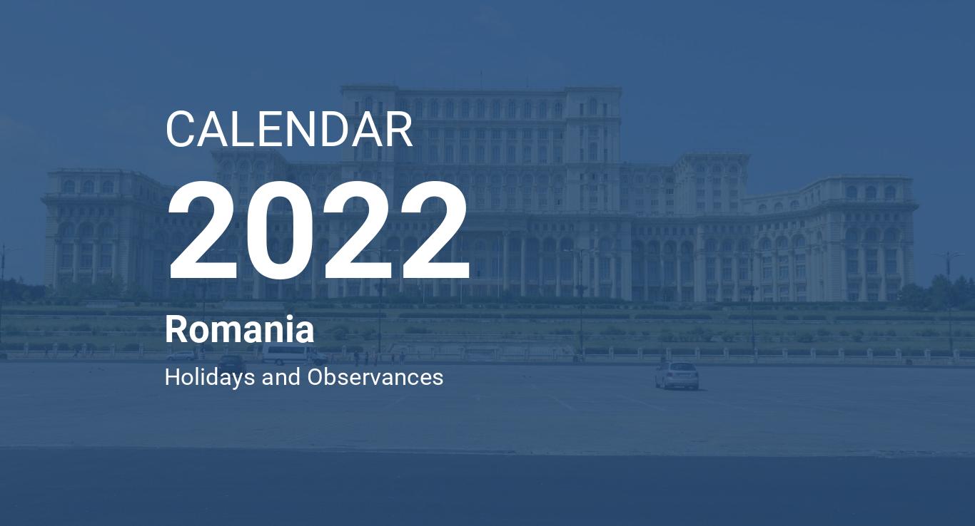Roman Calendar 2022.Year 2022 Calendar Romania