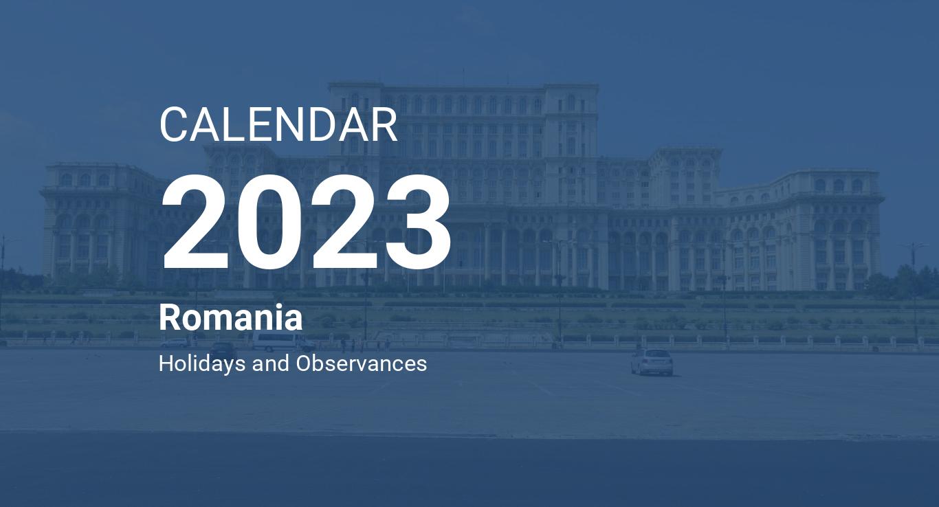 Year 2023 Calendar Romania