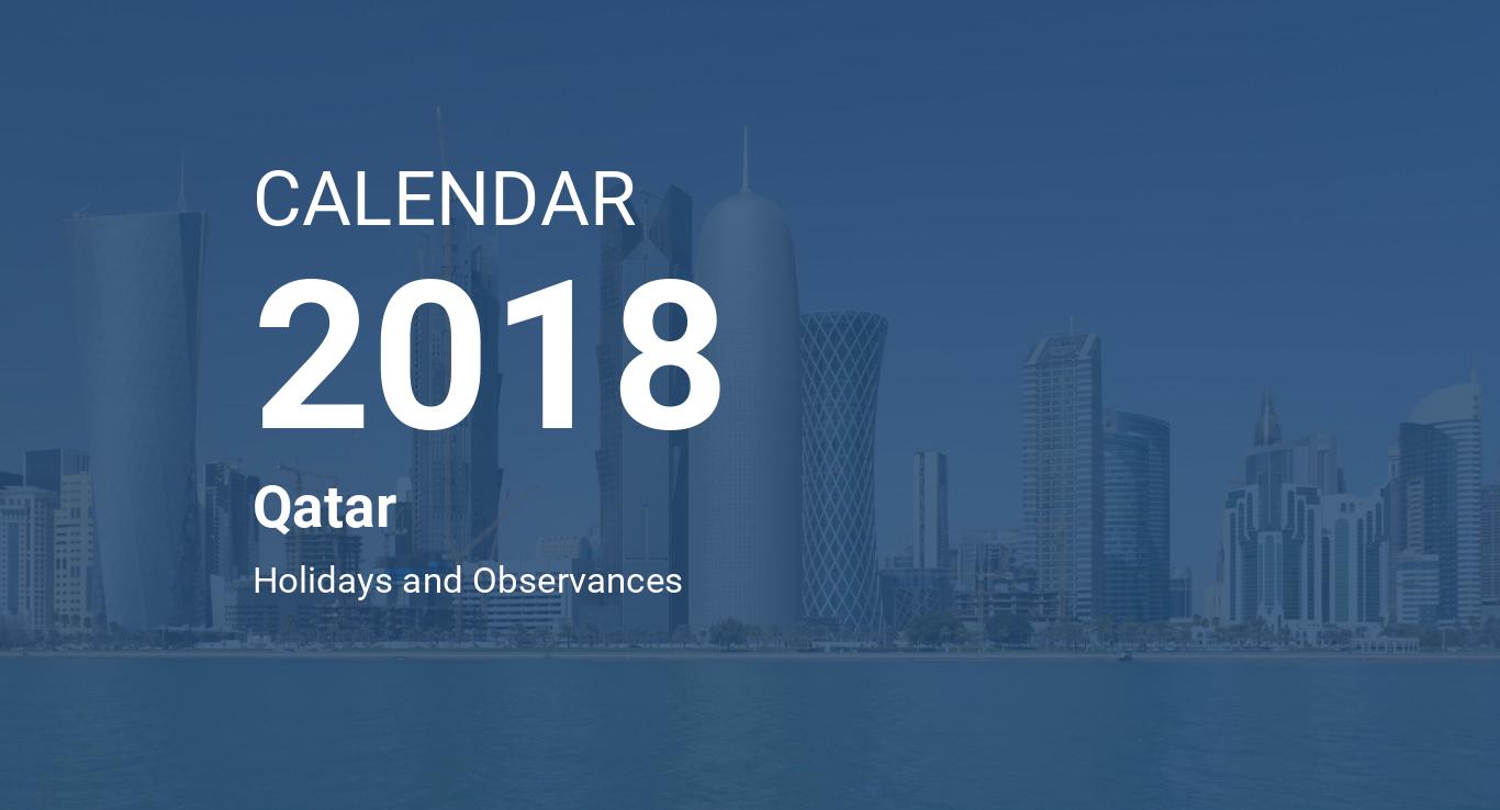 year 2018 calendar qatar