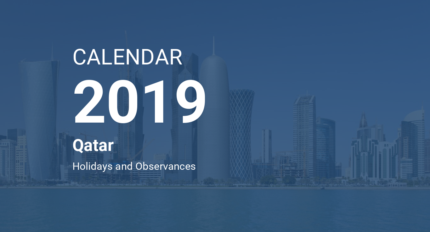 year 2019 calendar qatar
