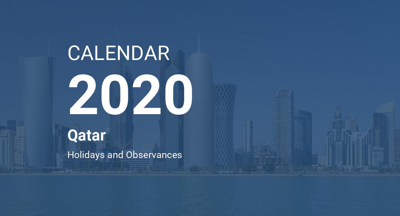 Year 2020 Calendar – Qatar