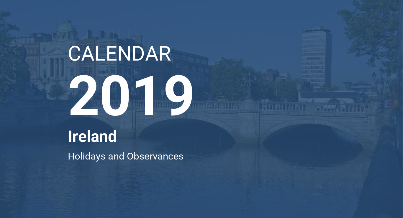 Calendario Laboral Ua.Year 2019 Calendar Ireland