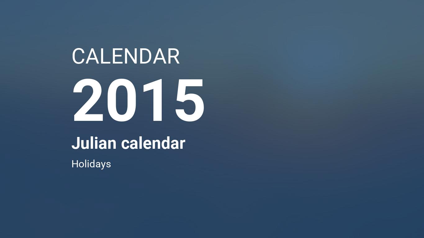 year 2015 calendar julian calendar