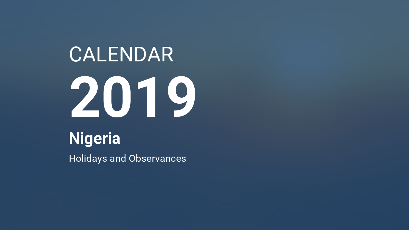Calendrier 6 Nation 2019.Year 2019 Calendar Nigeria