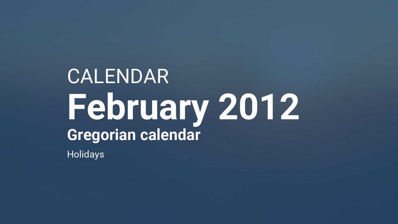 on 2 february 2012