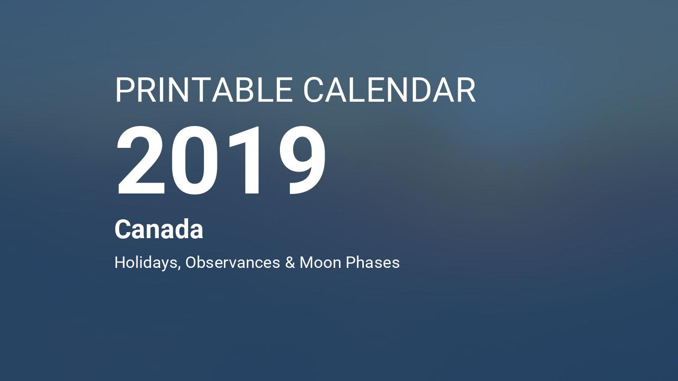 Calendar Monthly Observances : Printable calendar for canada pdf