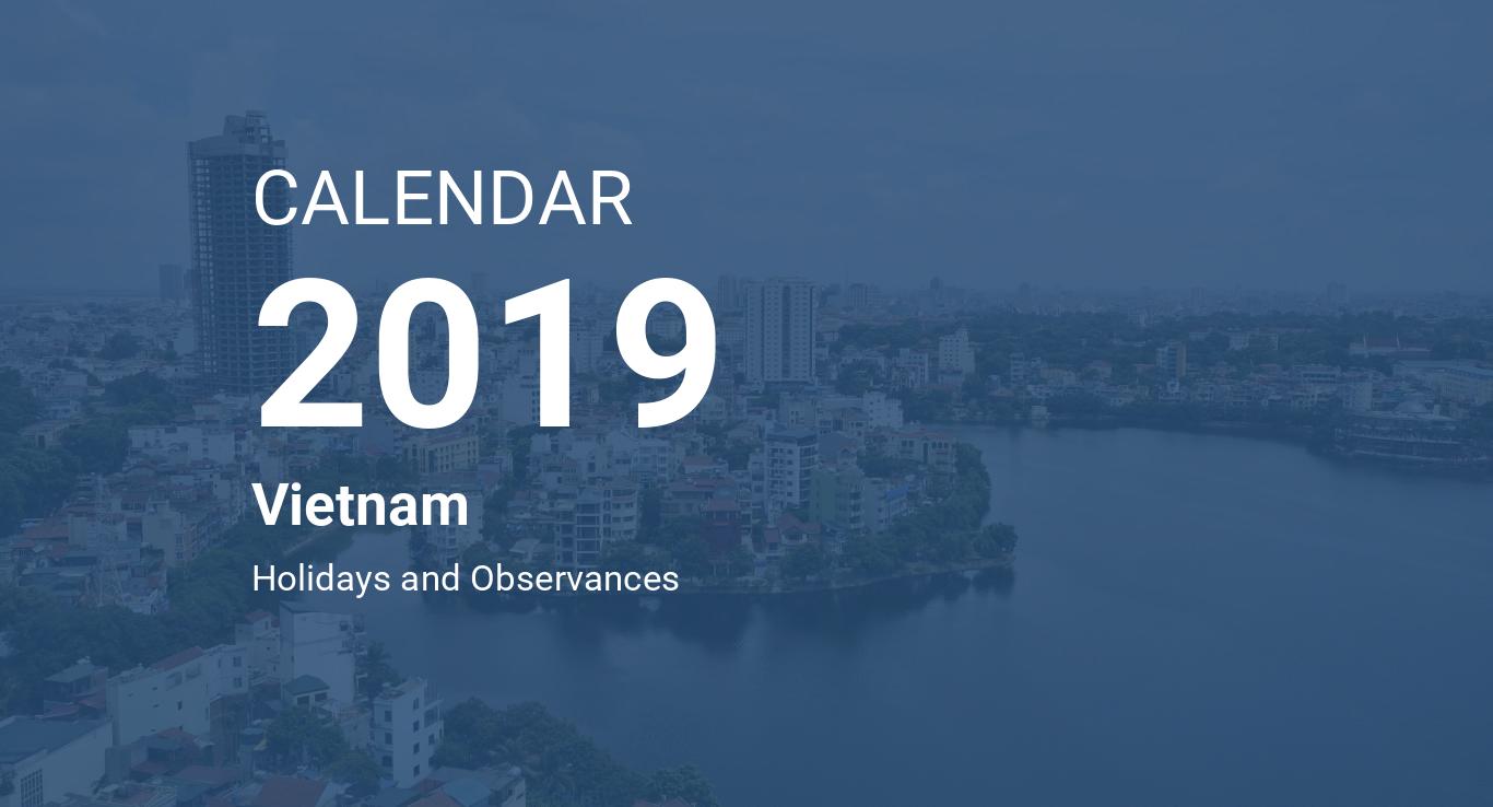 year 2019 calendar vietnam