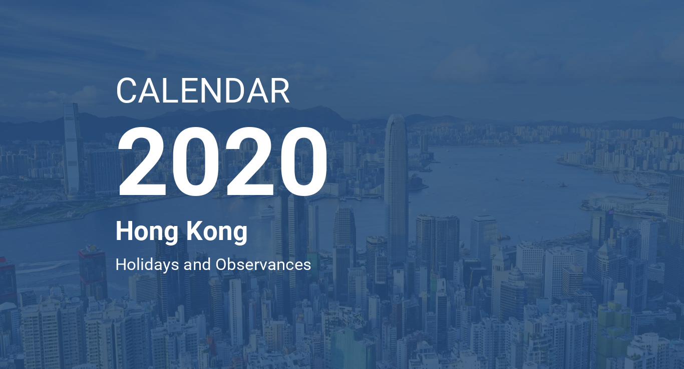 Calendario Lunar 2020.Year 2020 Calendar Hong Kong