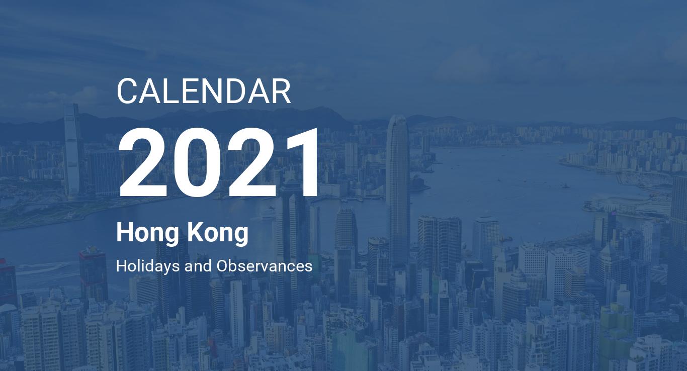 Year 2021 Calendar Hong Kong