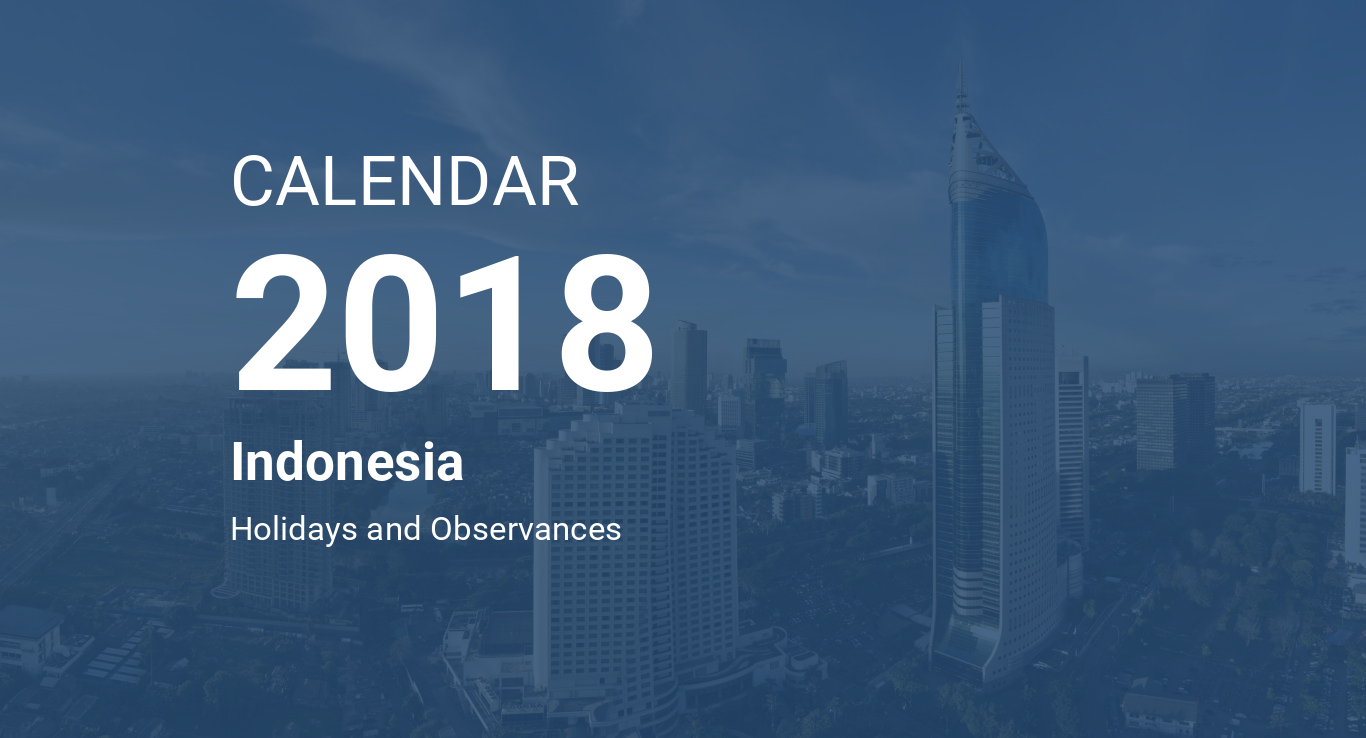 year 2018 calendar indonesia