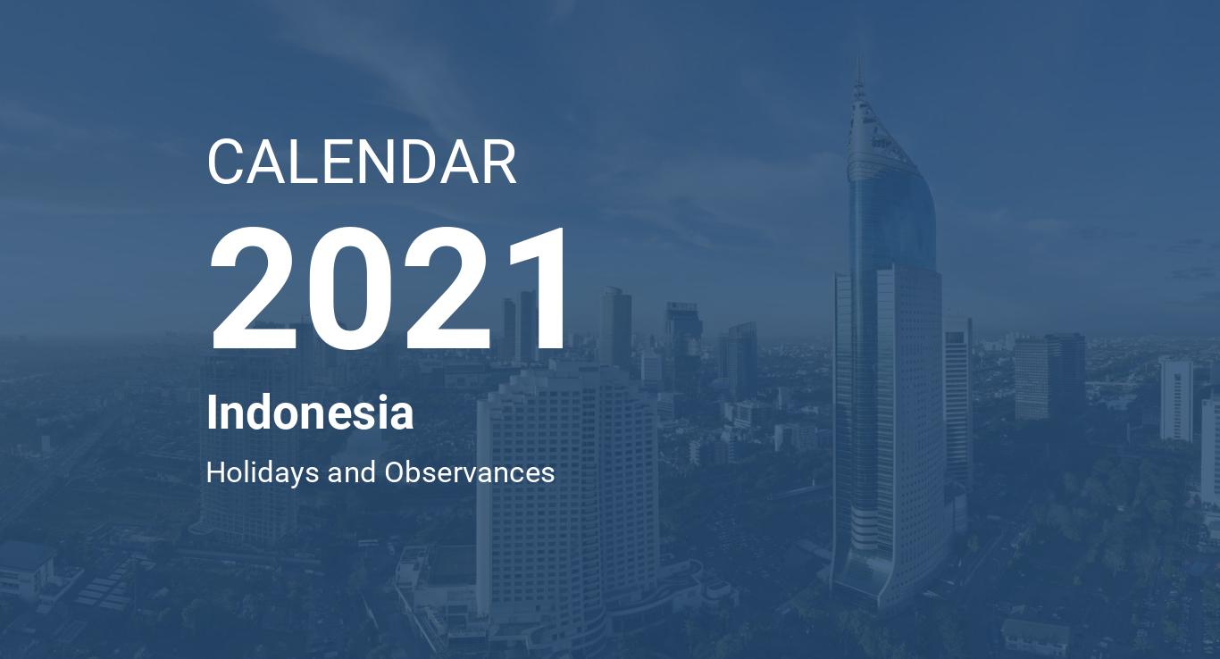Year 2021 Calendar – Indonesia