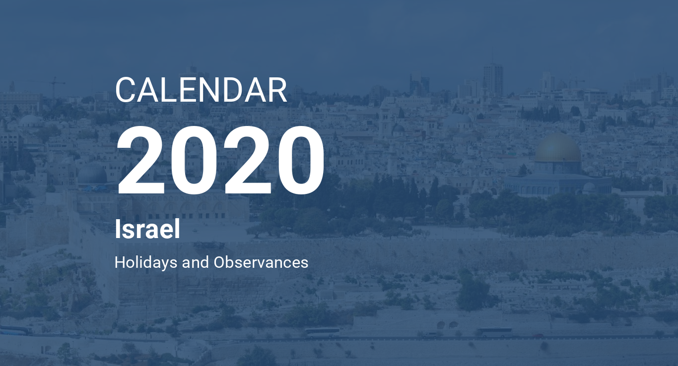 The Jewish Calendar 2020 Year 2020 Calendar – Israel