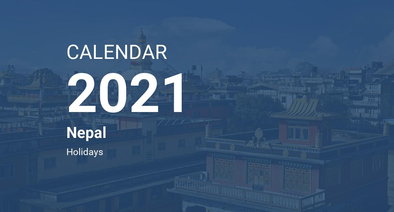 Year 2021 Calendar – Nepal
