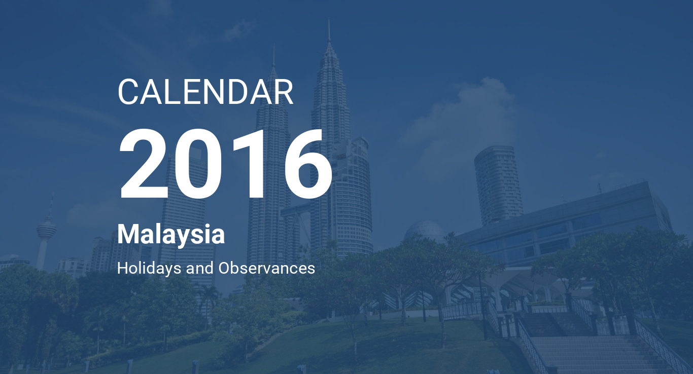 year 2016 calendar malaysia