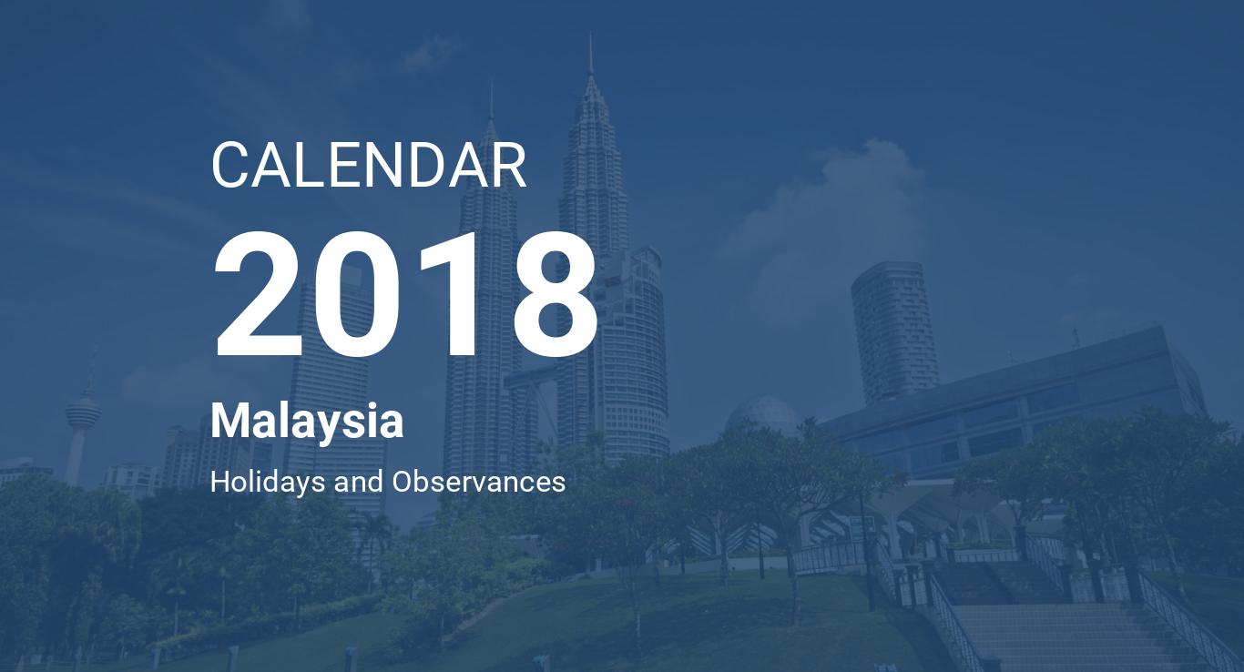 year 2018 calendar malaysia