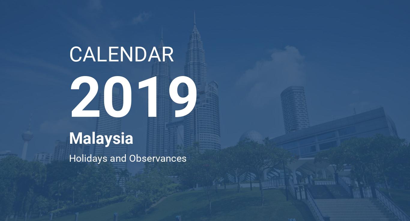 year 2019 calendar malaysia