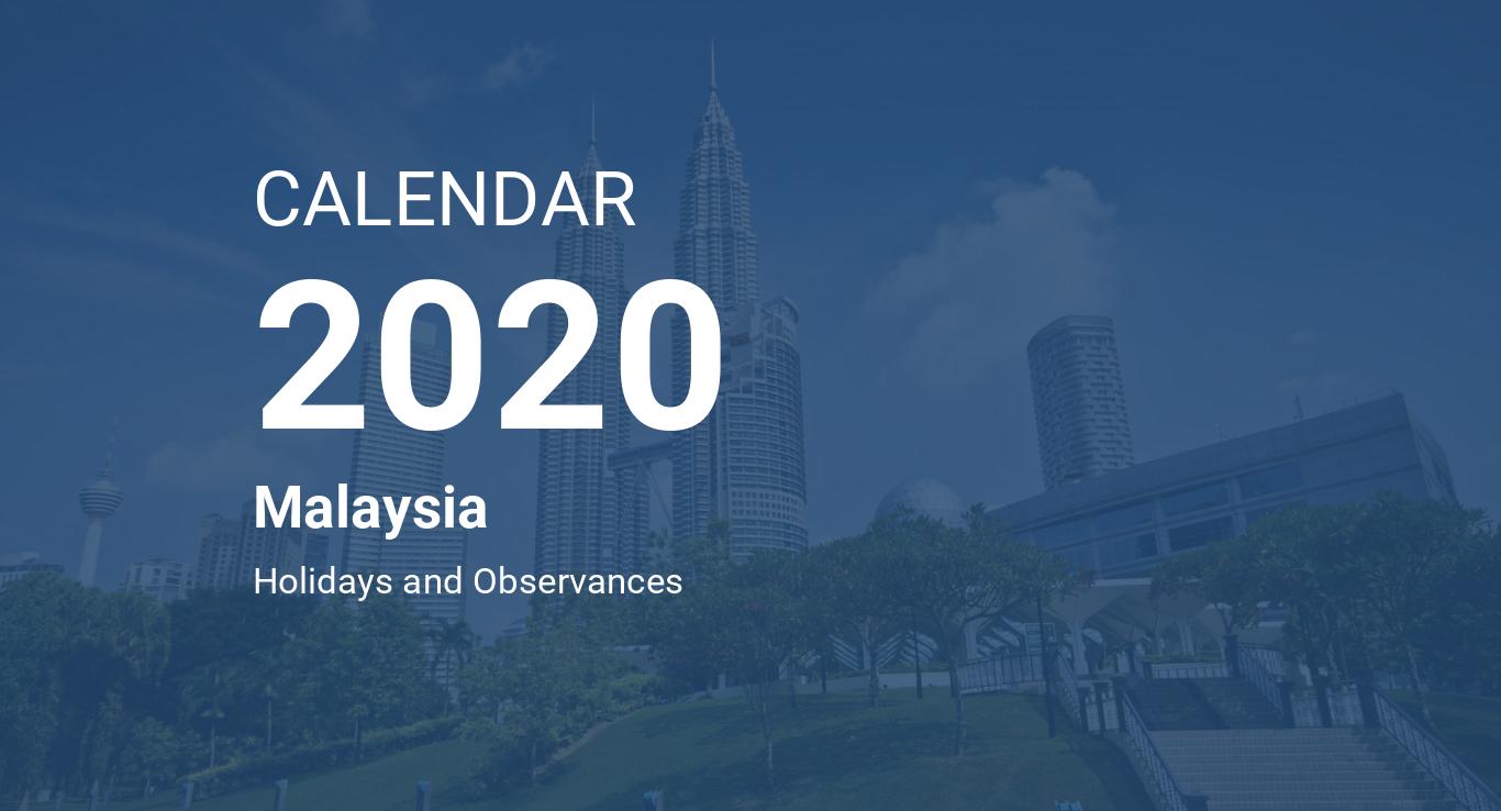 Calendario 2020 16.Year 2020 Calendar Malaysia