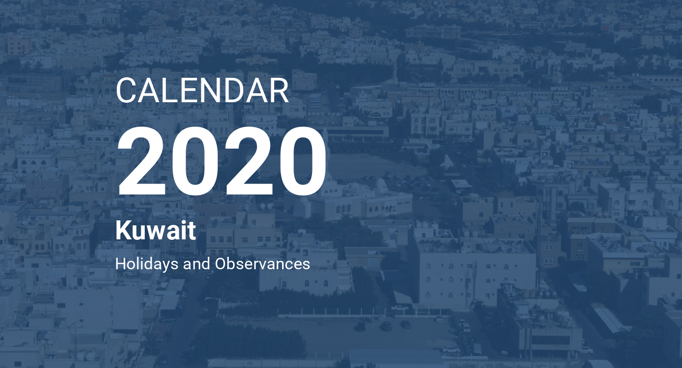 Ramadan 2020 Calendario.Year 2020 Calendar Kuwait