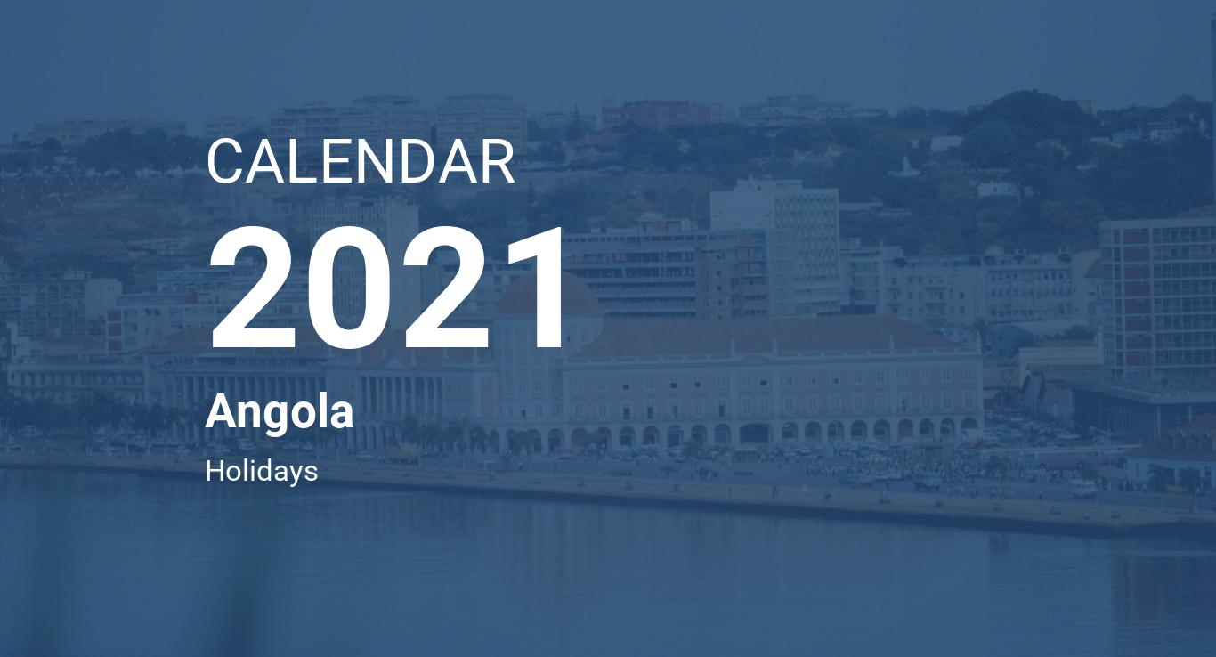 Year 2021 Calendar – Angola