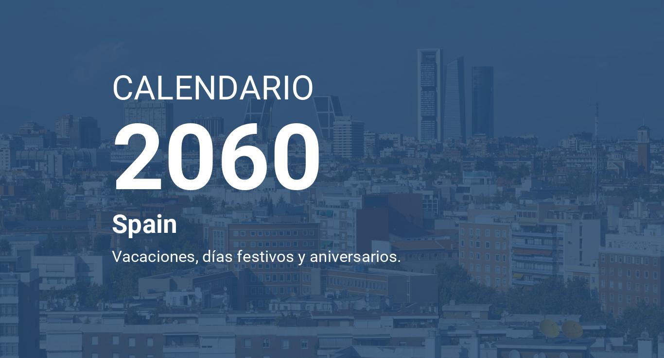 Calendario 2060.Year 2060 Calendar Spain