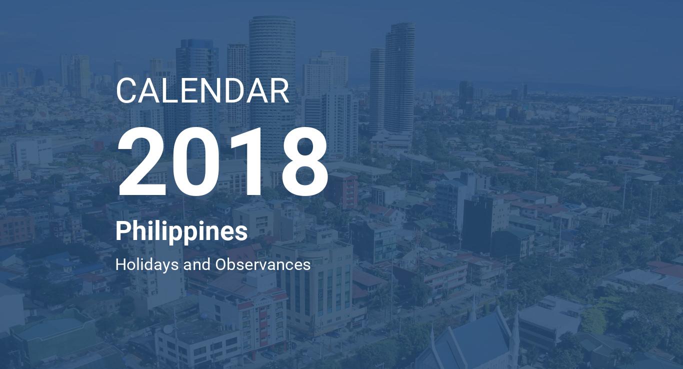 year 2018 calendar philippines
