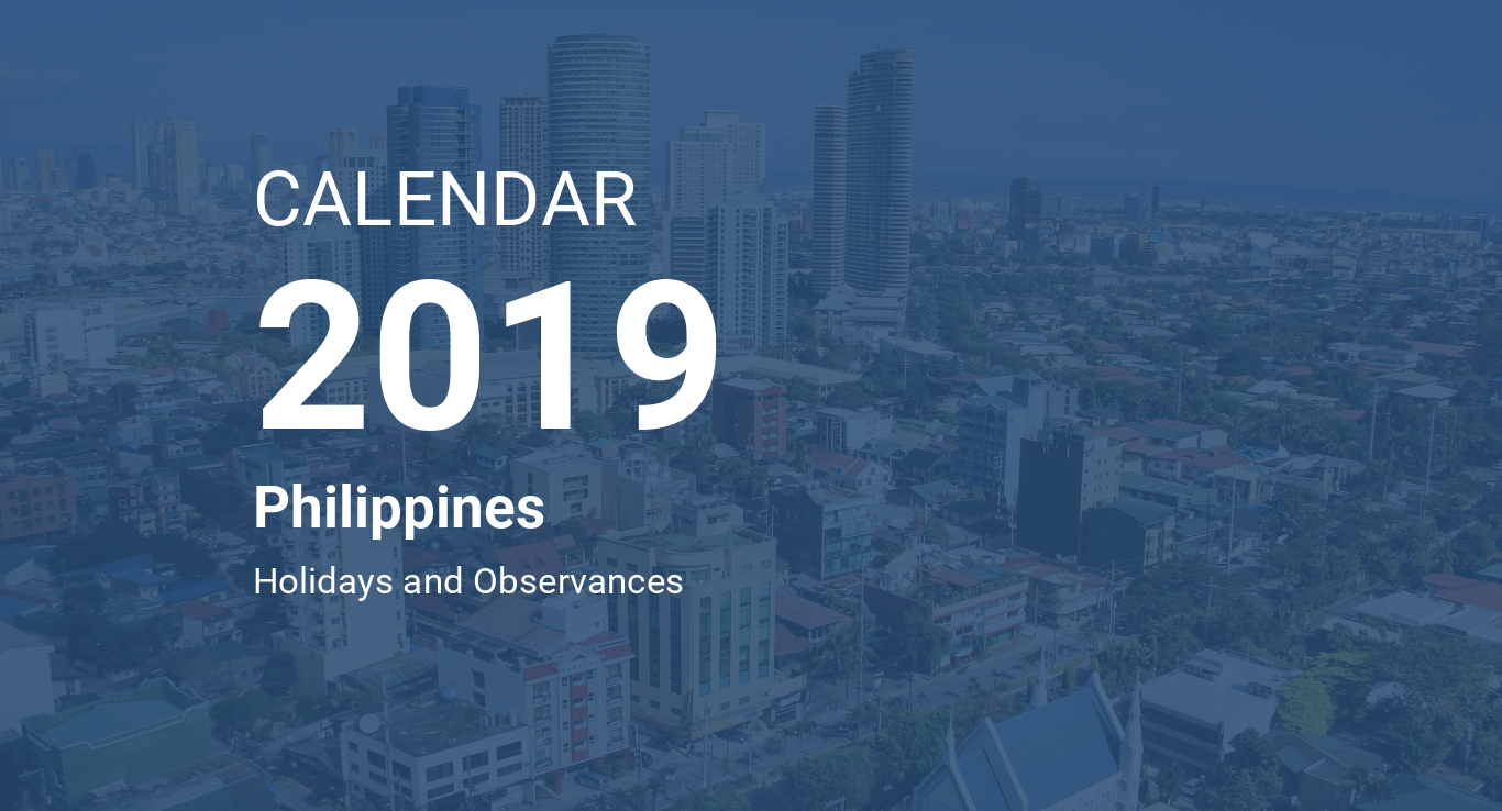 year 2019 calendar philippines