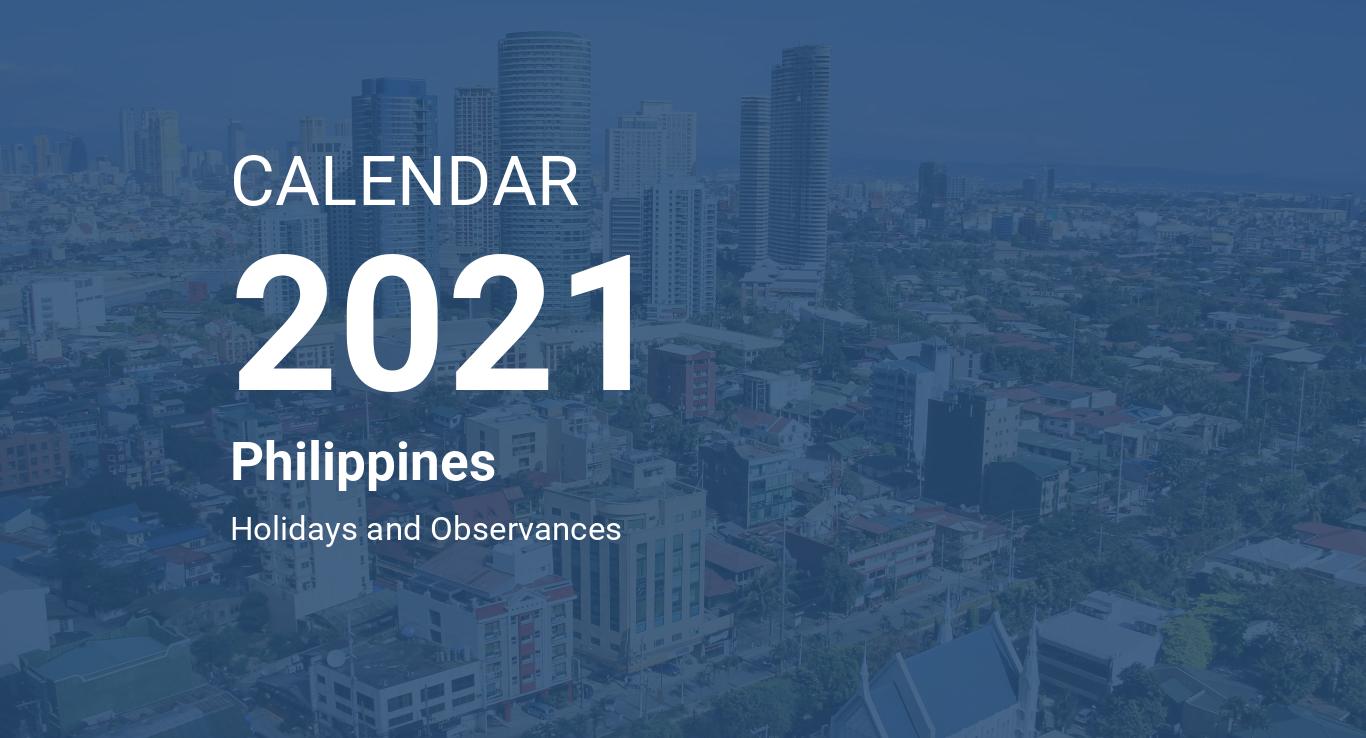 Year 2021 Calendar - Philippines
