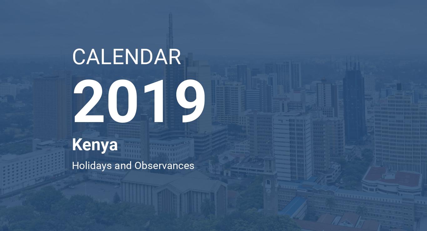 year 2019 calendar kenya