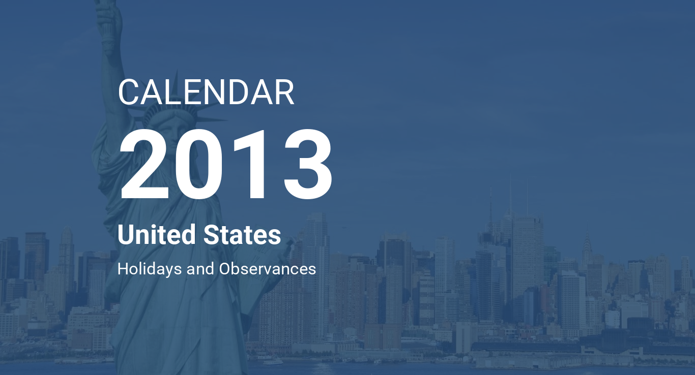 year 2013 calendar united states