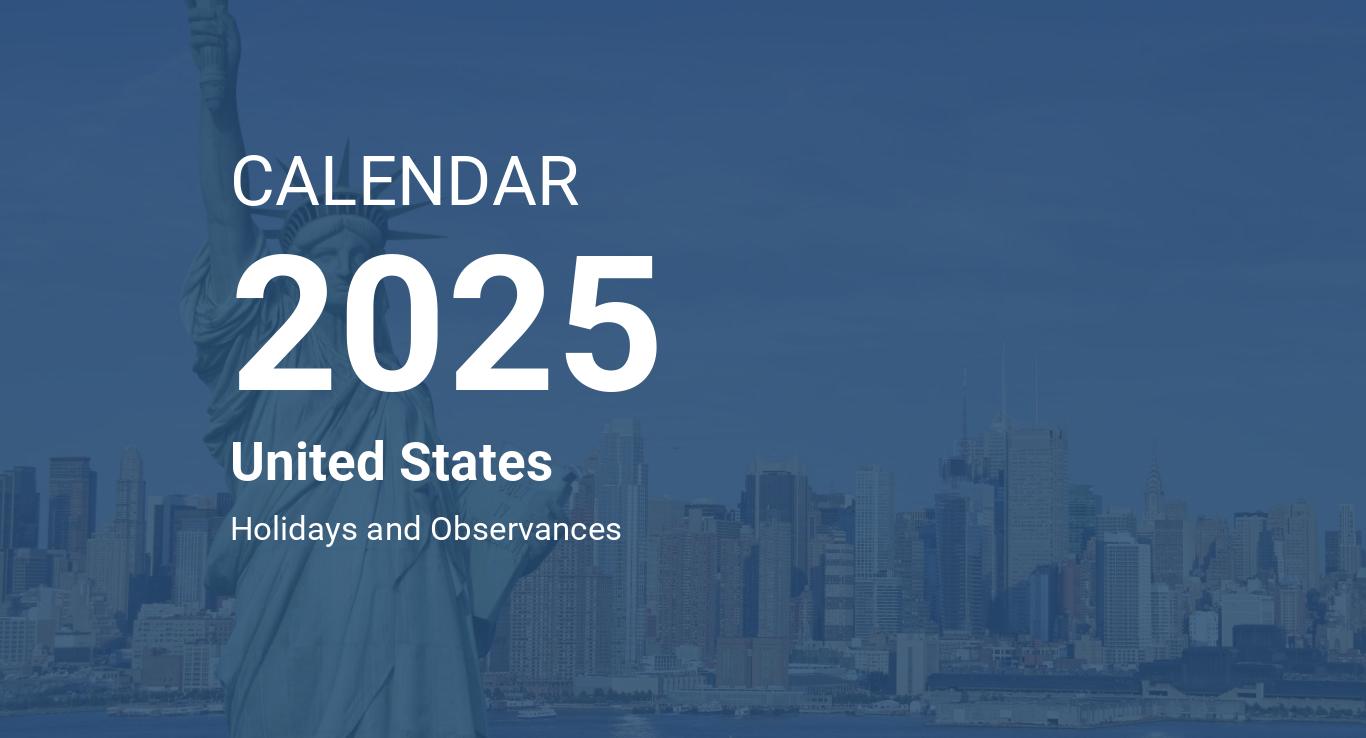 Year 2025 Calendar United States