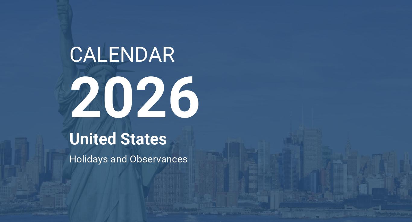 Year 2026 Calendar – United States
