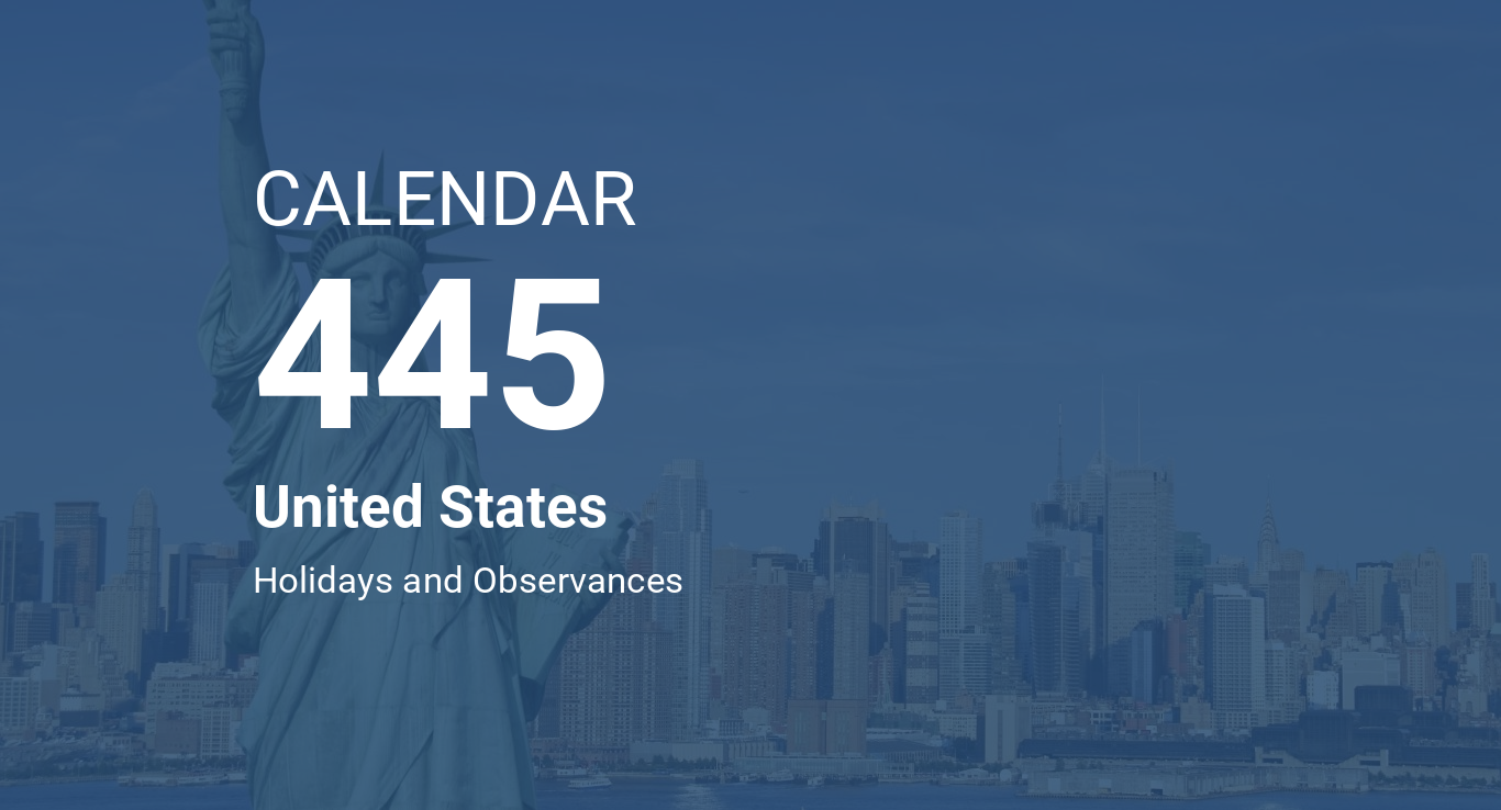 year 445 calendar united states