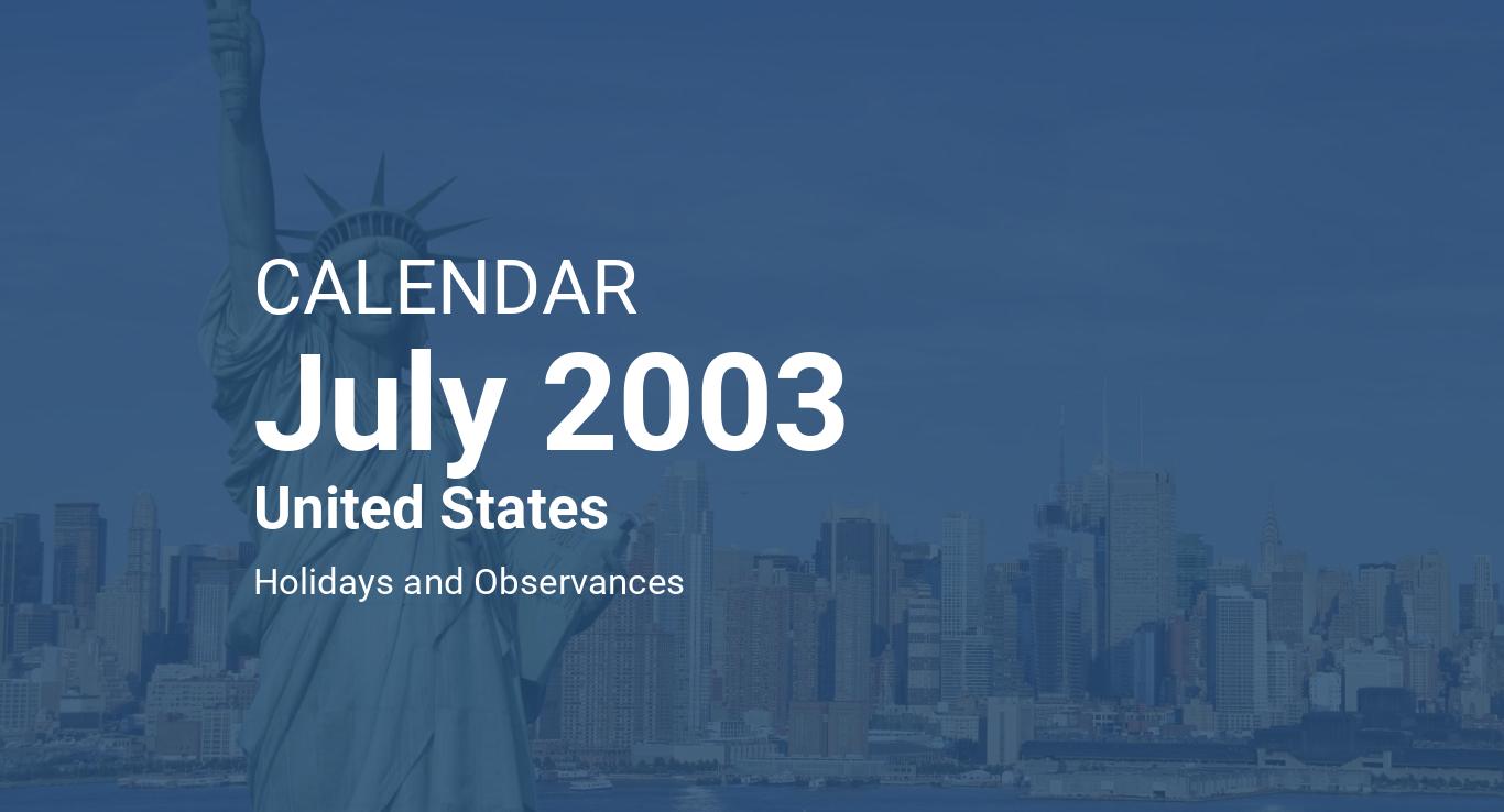4th july 2003