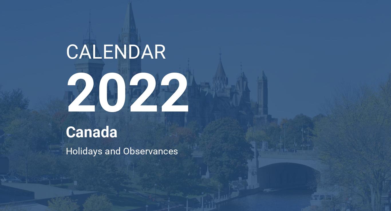 Year 2022 Calendar - Canada